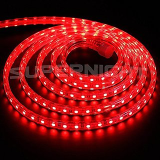 40  Meter    Red   Color SMD 5050 Flexible Slicon  LED Strip light AC220V 60leds/m Waterproof LED Light With Power Plug