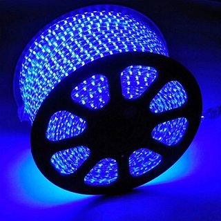40  Meter    blue  Color LED Strip Light Waterproof LED Tape AC 220V SMD 5050 60LEDs/m Flexible LED Lights for Living Room Outdoor Lighting with Plug