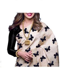 Stylezone Zarana Silk Embroidered Saree With Blouse-BF5061BLACK