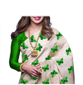 Stylezone Zarana Silk Embroidered Saree With Blouse-BF5061green