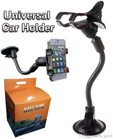 Premium Quality Flexible Car Phone Holder With Button to Regulate Width, 360 degree Rotating Support Holder Windshield