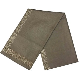 Varun Cloth House Mens Kashmiri Woollen Embellished Bordered Shawl/Lohi (vch4857 Grey Free Size)