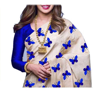 Stylezone Zarana Silk Embroidered Saree With Blouse-bf5061