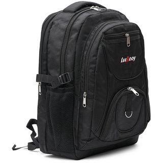 04602a4c65d8 Buy LeeRooy Canvas 24 Ltr Black Best Quality Bag Backpack For Unisex Online  - Get 31% Off