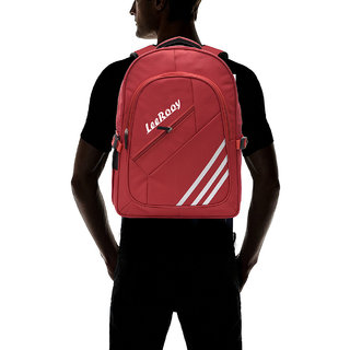 f57afb120ac8 Buy LeeRooy Nylon 23 Ltr Black travel Bag Backpack For Men Online ...