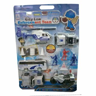 SHRIBOSSJI Combat Game Toys City Law Enforcement Team Model Action Figure Bike,Bus,Helicopter etc. for kids/children.