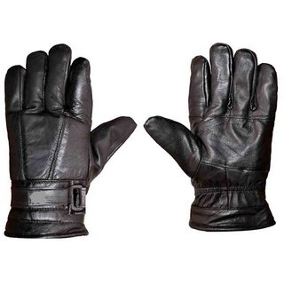 G-MTIN Motorbike Gloves Cold Weather Motorcycle Riding Glove Genuine Leather Black