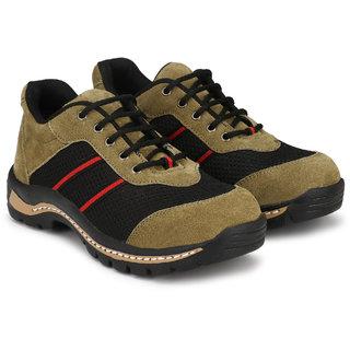 Udenchi UD800GREEN Genuine Suede Leather Steel Toe Industrial Safety Shoe for Men