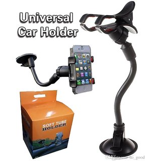 Flexible Premium Quality Car Phone Holder With Button to Regulate Width 360 degree Rotating Support Holder Windshield