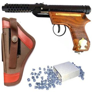 Dynamic Mart Bullet Mark-2 Wooden Air Gun Cover For Boys With 100 Pallets