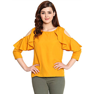 Fashion Women/Girls Blouse Cold shoulder Top Tees Shirt Tunic