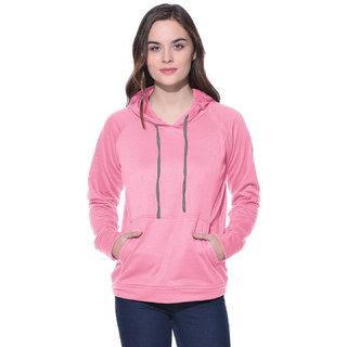 Solid string hoodie