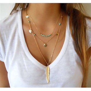 Women's Multi Layered Hobo Necklace