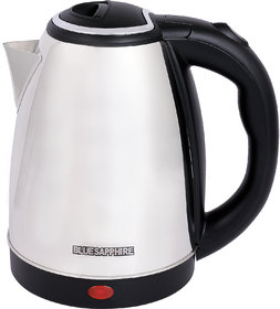 Blue Sapphire Stainless Steel 1.8 L 1000-1500 Watt Electric Kettle With Manufacturer Warranty Of 1 Year