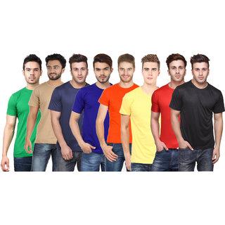 KETEX Men's Multicolor Round Neck T-shirt