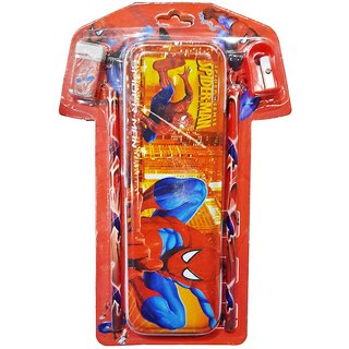6th Dimensions Spider Man 4 in 1 T-Shirt Shape Stationery Set