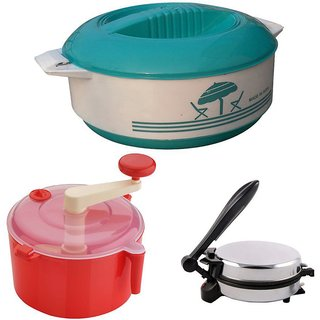 Combo Pack of Roti Maker+Red Dough Maker and 1500 Casserole