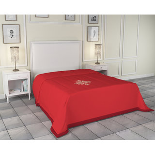 Azaani Red Antipill AC Double Bed Blanket