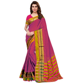 Indian Beauty Women's Jacquard Silk Saree With Blouse Piece (Free Size )