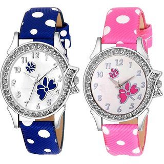 Zully Combo F For Fashionable combo collection of 2 multicolor Watch - For Girls