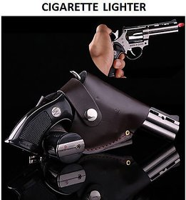 Dynamic Mart Gun Shaped Car Cigaratte Lighter with Windproof Jet Flame - Metal Body  Plastic Hand Grip