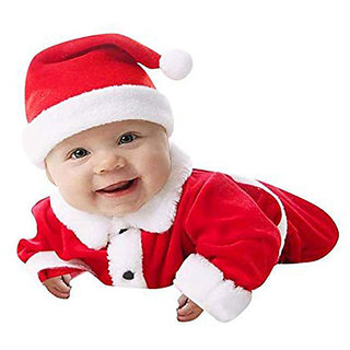 Christmas Santa Claus Fancy Dress Costume for 6-9 months, Xmas Party for Boy Girl Kids Merry Christmas kids, o-size