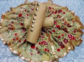 Stylezone embroiderd JAM SILK Dress Material-tm6077