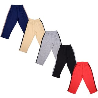 Kavin's Multicolor Trendy looking Cotton Full-Pant with Pockets (Pack of 5)