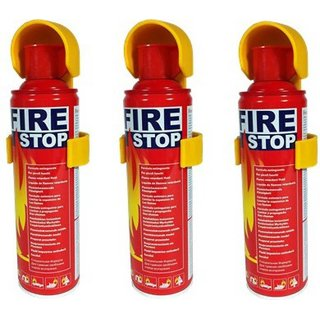 Fire Stop Fire Extinguisher Mount 500ml Set Of 3