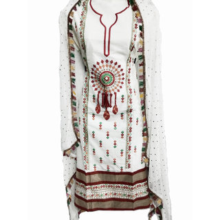 Stylezone Embroidered Cotton Dress Material-TM6074 For Women