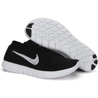 Nike Free Rn Motion Flyknit Black MenS Running Shoes