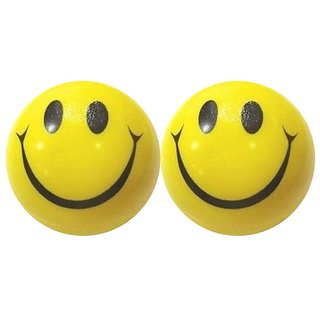 Smiley Yellow Squeeze Balls - Pack of 2