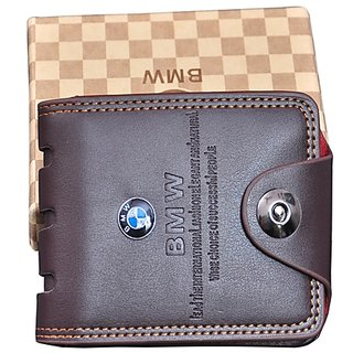 f952b7446fae Buy Brown Leatherite Bi-Fold wallet for Men Online - Get 86% Off