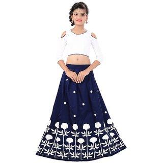 022657dad81ac F Plus Fashion Latest Designer Flower Printed Party Wear Semi Stitched Kids  Lehenga Choli(Suitable To 8-13 Year Girls )