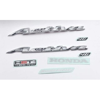 Bike 2 pcs Emblem Badge Decal 3D Tank LogoActiva 4G Sticker for Honda Activa 4G(Both Side of Petrol Tank)