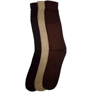 Saiprasad Full Length Formal Wear Men's Cotton Socks ( Pack Of 3 )