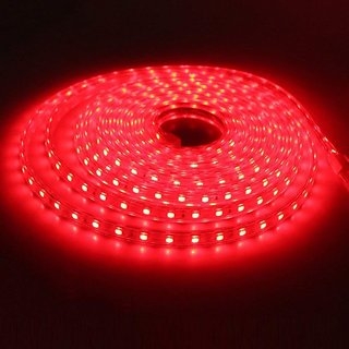 40M   Red  Color Slicon LED Strip Light Waterproof SMD 5050 60LEDs/m Flexible for Living Room Outdoor Lighting with  Plug