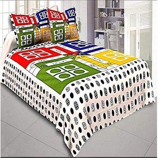 Z Decor 100 Cotton Double bedsheet Ludo Print (90 X 100 Inch)