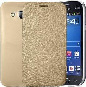 OPPO R1 Mobile Back Flip Cover Cases - golden