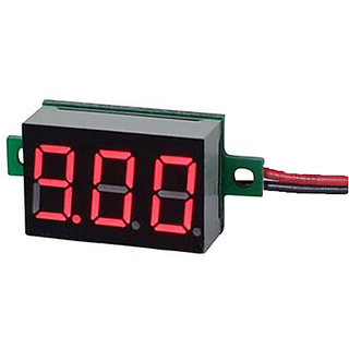 Futaba DC Voltage Meter with DC 4.5-30V - Red