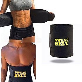 SK ENTEPRISES Synthetic Hot Shaper Slimming Sweat Belt Shapers Tummy/Waist Fat Burner  Free Size  Adjustable