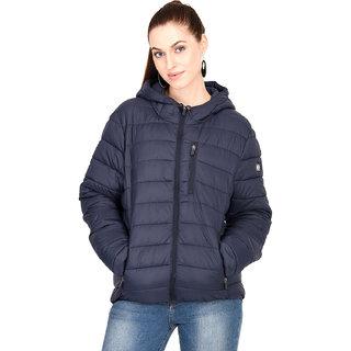 Kotty Women's Blue Full Sleeve Paddle Jacket