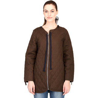 Kotty Women's Brown Full Sleeve Paddle Jacket