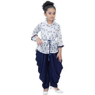 Arshia Fashions Girls Party Wear Harem  Pants With Kurti