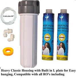 Classical Pre Housing Set /Kit with 2 pc Thread Candle  Filter /Cartage And 3 mtr  3/8'' pipe