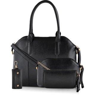 GLAMTREE HAND BAG COMBO FOR WOMEN'S - BLACK