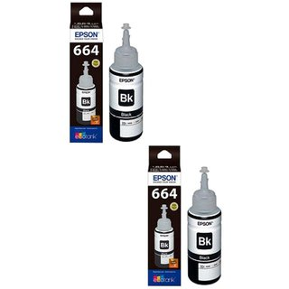 Epson Black Ink Pack of 2  T6641