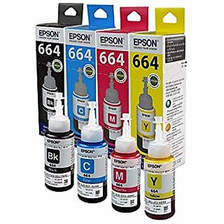 Original Original Epson Ink All Colors (T6641-B T6642-C T6643-M T6644-Y) 70 Ml Each For L100/L110/L200/L210/L300/L350/L355/L550