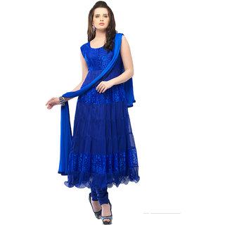 9295fa1da1 Buy Aaina Dark Blue Embroidered Net Dress Material For Women Online ...