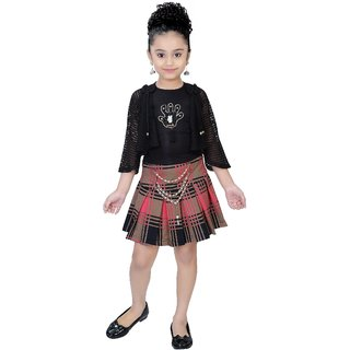 Arshia Fashions Girls Party Wear Skirt and Top Set